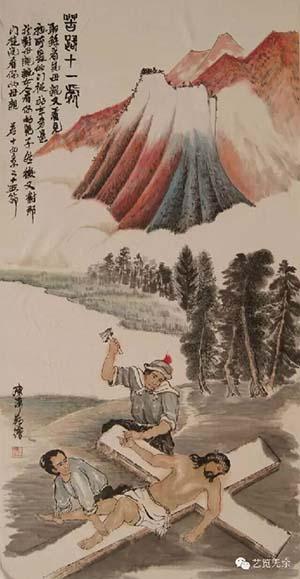 苦路第十一处 耶稣被钉在十字架上-天主教信德网 图集 圣经故事与中国