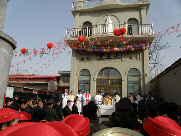 河北:邯郸教区魏县西南温教堂举行奉献礼