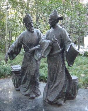 公园雕塑设计三视图